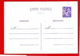 Entier Postal (carte Postale Type IRIS Xx Impécable) 1,Frs20 Violet Sur Blanc Couché TTB (0,6) - Standard Postcards & Stamped On Demand (before 1995)