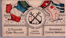 Carnet De 32 CP De La Cie Gén. Translatantique (CP De St Nazaire,La Baule,Le Poliguen,Paris) En Français Et Espagnol - Paquebots