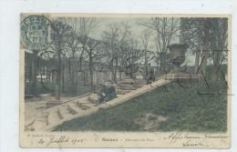 Sceaux (92) : L´escalier Du Parc En  1906 (animé)  PF. - Sceaux