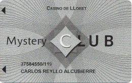 Casino De LLoret Spain Mystery Club Casino Slot Card - Casino Cards
