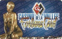 Casino De La Vallee Italy Paper Fortuna Card  .....[FSC]..... - Casino Cards
