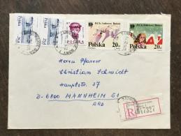 I21 Polen Poland Pologne 1982 R-Brief Von Tarnowskie Gory Nach Mannheim - Lettres & Documents