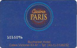 Casino Paris Bucharest Hotel Romania Entry Card   .....[FSC]..... - Casino Cards