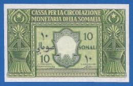 Italian Somaliland / Somalia 10 Somali 1950 Rare P13a AU- - Somalia