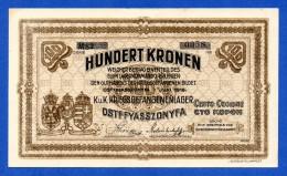 Hungary R5 Ostffyasszonyfa WWI POW Camp 100 Corone / Korona / Kronen 1916 XF~AU - Ungheria