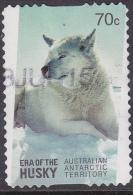 2014. AAT Australian Antarctic Territory. Era Of The Huskies. 70c. Husky. Laying. P&S. FU. - Australian Antarctic Territory (AAT)