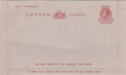Australia 1949 Letter Card L47a King George VI, Three Pence Mint - Postal Stationery