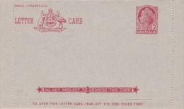 Australia 1953 Letter Card L51 Queen Elizabeth II, Four Pence Mint - Postal Stationery