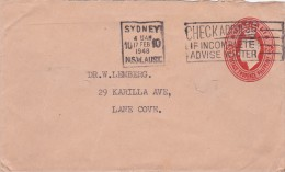 Australia Envelopes 1942 King George VI 2d And Half Red, E25 Used - Postal Stationery