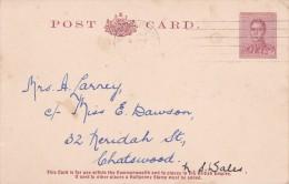 Australia Postal Cards 1938 King George VI 3 Penny Brown PC 36 Used - Postal Stationery