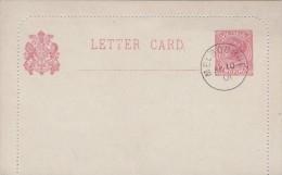 Australia Victoria State 1901 Two Pence Letter Card FDI - Postal Stationery