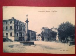 69 Rhone  MONSOLS  La Place Hotel De Ville - Altri Comuni