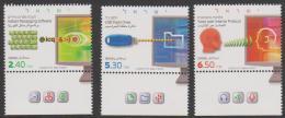 ISRAEL - 2009   Virtual Communications With Tabs. Scott 1783-85. MNH ** - Israel
