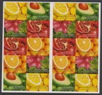 ISRAEL - 2009   Fruit Booklet Complete. Scott 1792-6. MNH ** Unfolded As Issued - Israel