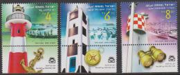 ISRAEL - 2009   Lighthouses With Tabs. Scott 1798-1800. MNH ** - Israel