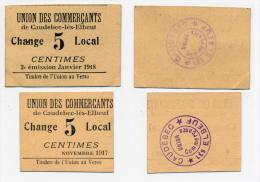 1917 / 18 // CAUDEBEC-LES-ELBEUF // UNION Des COMMERCANTS // Bon De 5 Centimes - Bons & Nécessité