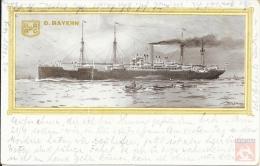 Allemagne - Carte Postale PAQUEBOT - BAYERN - Seepost 1906 - Hamburg - Paquebots