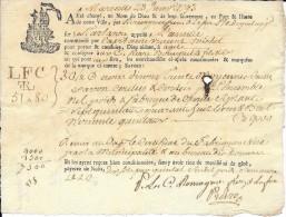 "23 Janvier 1793 - Marseille (13) - Connaissement - Tartane ""L´Amitié"" - Savon (de Marseille) - Documentos Históricos"