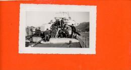 """Torpilleur """"Trombe"""" En Rade De CASSIS Le 10/12/1935 - Les EOR Mécaniciens (dimensions 12.5 X 8.3) - Guerre"""
