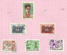 Vietnam Du Nord N°434, 437 à 441 Cote 1.75 Euros - Vietnam