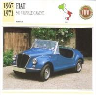 Fiat  500 Vignale Gamine  -  1967  -  Fiche Technique Automobile (Italie) - Voitures