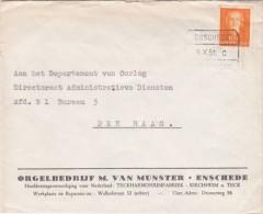 Envelop 9 Okt 1951 Enschede Amsterdam C (spoor Blokstempel ) Uit Enschede - Poststempels/ Marcofilie