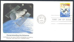 USA 1981 Cover: Space Weltraum Nasa : Space Orbiting Telescope - Hubble - United States