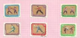 Vietnam Du Nord N°604 à 609 Cote 3.75 Euros - Vietnam