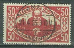 DANZIG 1923: Mi 131, Verso * MH, O - KOSTENLOSER VERSAND AB 10 EURO - Danzig