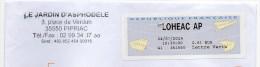 Vignette GAPA Agence Postale Communale Ille Et Villaine LOHEAC AP - 2000 Type «Avions En Papier»