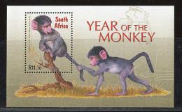 (cl. 4 - P.51) Afrique Du Sud ** Bloc N° 99 (ref. Michel Au Dos)  - Année Lunaire Du Singe - - South Africa (1961-...)