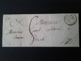 Lettre Moreuil Dozulle Calvados    1847 - Storia Postale