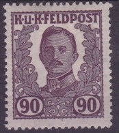 Austria 1918 Feldpost unissued 90 h.mint hinged