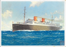 Allemagne - Carte Postale PAQUEBOT - COLUMBUS - Seepost 1935 - Piroscafi