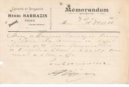 VP.0003/ Charente Inférieure - Pons - Sarrazin - Epicerie Droguerie - France
