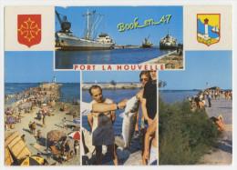 {53948} 11 Aude Port La Nouvelle , Multivues ; Le Port ,la Plage , Le Phare ; Animée - Port La Nouvelle