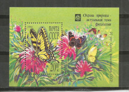 Le Machaon Ou Grand Porte-queue (Papilio Machaon)  Un Bloc-feuillet Neuf ** - Papillons