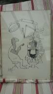 Caricature Du Dessinateur Suisse Ted Scapa Montrant La Visite Chez Le Dentiste  - 1 - Affiches