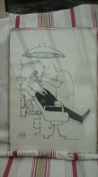 Caricature Du Dessinateur Suisse Ted Scapa Montrant La Visite Chez Le Dentiste - 2 - Affiches