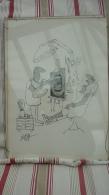 Caricature Du Dessinateur Suisse Ted Scapa Montrant La Visite Chez Le Dentiste - 3 - Affiches