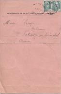 "53  -  RENAZE  -  "" ARDOISIERES De LA RIVIERE ""  -  Facture  - Timbres - Postmark Collection (Covers)"