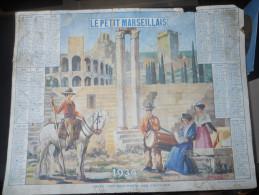 CALENDRIER CAMARGUE ARLES LAGET 1 PROVENCE GARDIAN GARDIANS ARLESIENNE ARLESIENNES TAMBOURINAIRE FOLKLORE ARENES CHEVAUX - Big : 1921-40