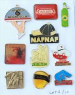Lot De 10 Pin's - PRIX SACRIFIE !!!! - Lot N° 1 - E461 - Badges