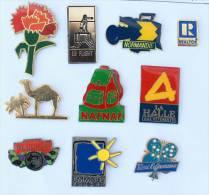 Lot De 10 Pin's - PRIX SACRIFIE !!!! - Lot N° 6 - E466 - Badges