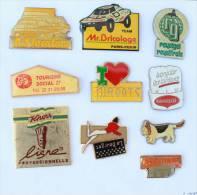 Lot De 10 Pin's - PRIX SACRIFIE !!!! - Lot N° 10 - E470 - Badges