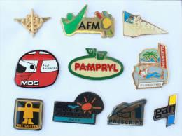 Lot De 10 Pin's - PRIX SACRIFIE !!!! - Lot N° 11 - E471 - Badges