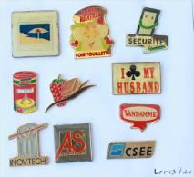 Lot De 10 Pin's - PRIX SACRIFIE !!!! - Lot N° 13 - E473 - Badges