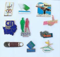 Lot De 10 Pin's - PRIX SACRIFIE !!!! - Lot N° 18 - E478 - Badges