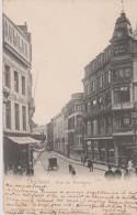"""Cpa 1905 Charleroi.Rue De Montigny Et établissement """"A La Vierge Noire"""". Vue Animée.N°3643 Edit. Dumont(dos Simple) - Charleroi"""