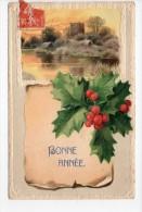 Bonne Année / Illustrateur / Gaufrée - Noms Sur La CP = Non - 1910 Ou 1918 - Nieuwjaar